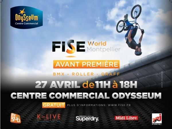 K-Live à Odysseum pour l'avant première du FISE !