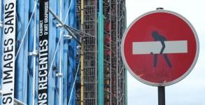 CLET_Centre Pompidou Paris 2013 @clet abraham coupé